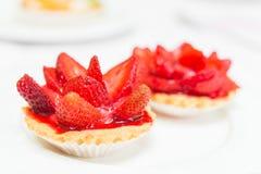 Fresh Pie Tart on White Plate Stock Photos