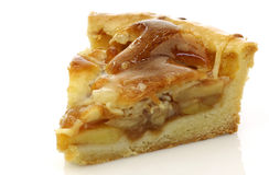 Fresh piece of apple pie Royalty Free Stock Image