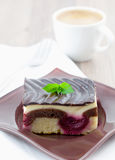 Fresh piece of cake Royalty Free Stock Images