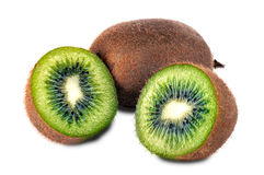 Fresh piece kiwi fruit. Isolated on white background Royalty Free Stock Photos