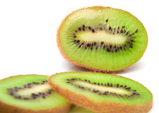 Fresh piece kiwi fruit. On white background Stock Photography