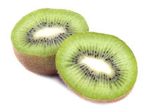 Fresh piece kiwi fruit isolated Stock Photo
