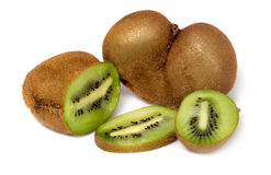 Fresh piece kiwi fruit. On white background Royalty Free Stock Photography