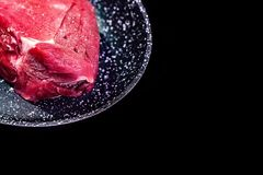 Fresh piece of raw beef royalty free stock images