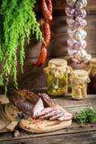 Fresh piece of smoked ham Stock Photography