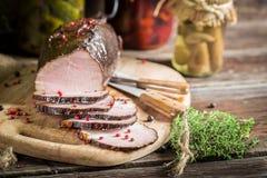 Fresh piece of smoked ham Royalty Free Stock Image