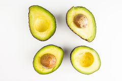 Fresh Pieces Of Avocados Royalty Free Stock Photography