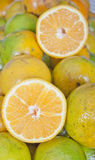 Fresh pieces of citrus fruits Stock Photo