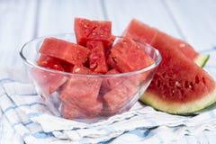Fresh pieces of Watermelon Stock Photos