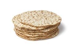 Fresh pile of matzah Royalty Free Stock Photo