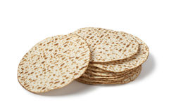 Fresh pile of matzah Royalty Free Stock Photos