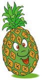 Fresh pineapple cartoon Stock Photos