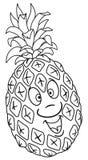 Fresh pineapple cartoon Stock Image