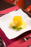 Fresh Pineapple dessert Royalty Free Stock Photos