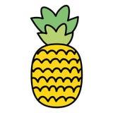 Fresh pineapple fruit summer icon vector illustration
