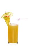 Fresh Pineapple Juice With Garnish Stock Photography