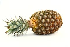 Fresh Pineapple Laying On Side Royalty Free Stock Images