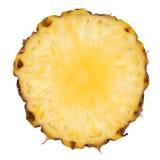 Fresh pineapple slice isolated on white. Royalty Free Stock Photo