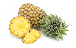 Fresh pineapple with slices Stock Photo