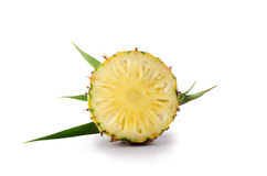 Fresh pineapple with slices isolated on white background Royalty Free Stock Images