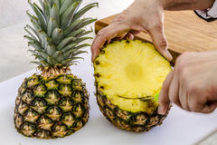 Fresh Pineapple and Toasted Coconut Dip Stock Images
