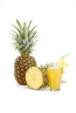 Fresh pineapple on white background Royalty Free Stock Photography
