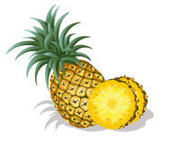 Fresh pineapple. On a white background Royalty Free Stock Photos