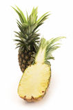 Fresh pineapple white background. Isolate Royalty Free Stock Photos