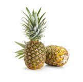 Fresh pineapple on white background Royalty Free Stock Images