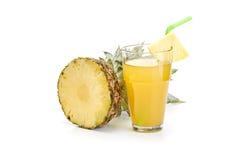 Fresh pineapple on white background Royalty Free Stock Photos