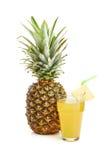 Fresh pineapple on white Stock Images
