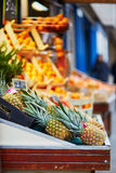 Fresh pineapples on Parisian farmer market Stock Image