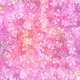 Fresh pink floral background Stock Photos