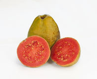 Fresh pink guava Royalty Free Stock Images