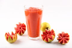 Fresh pink guava juice Royalty Free Stock Photos