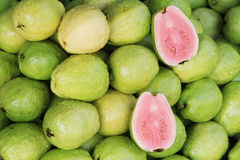 Fresh Pink Guavas Stock Images