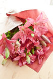 Fresh pink lilies Royalty Free Stock Image