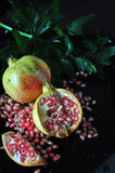 Fresh Pink Pomegranate Royalty Free Stock Photo