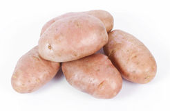 Fresh pink potatoes Stock Photos