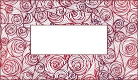 Fresh pink roses frame border isolated. Royalty Free Stock Photography