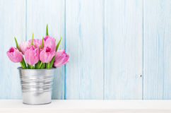 Fresh pink tulip flowers bouquet Stock Photography