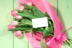 Fresh pink tulips Stock Photography
