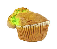 Fresh pistachio nut muffin Stock Photo