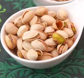 Fresh Pistachios Royalty Free Stock Photography
