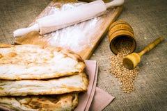 Fresh pita bread Stock Photo