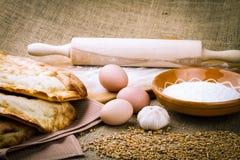 Fresh pita bread Royalty Free Stock Photos