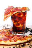 Fresh Pizza And Cold Cola Drink Stock Image