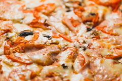 Fresh pizza background Royalty Free Stock Images