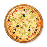 Fresh pizza closeup Royalty Free Stock Images