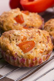 Fresh pizza muffin as a snack Stock Photo